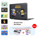 Minion Captain America Laptop Sleeve Protective Cover For Notebook Apple Laptop Macbook Air Case For Mac Case A1278 A1286