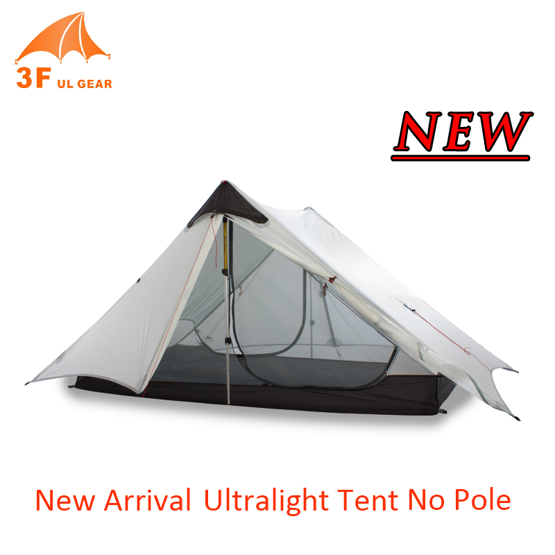 3F UL Équipement De Plein Air Étanche Portable Camping Tente Enduit De Silicone 15D Nylon Ripstop Tissu Randonnée Randonnée Tente Double Laye