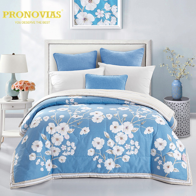 Pronovias 100% cotton painting diamond quilted bedspreads/throws single double bed 1pc for spring summer autumnPronovias 100% cotton painting diamond quilted bedspreads/throws single double bed 1pc for spring summer autumn