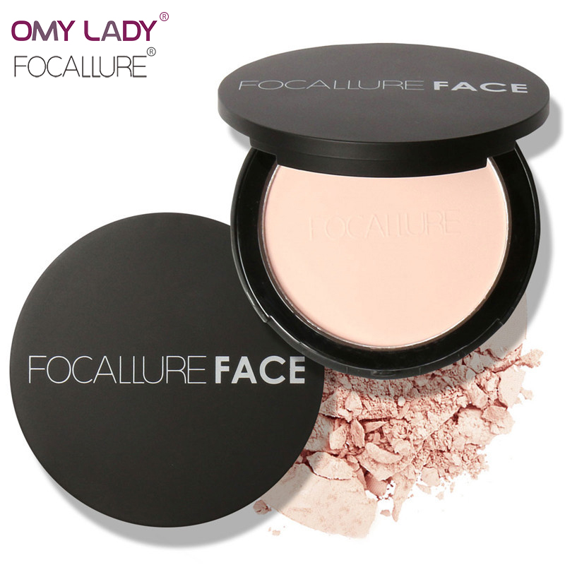 OMY LADY FOCALLURE New Makeup Long Lasting Loose Powder Waterproof Matte Setting Powder with Puff Concealer Light Power palette