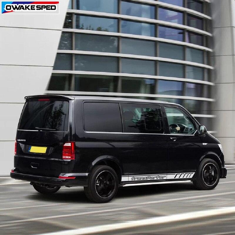 Für Volkswagen Transporter T4 T5 T6 Sport Streifen Tür Seite Rock Decor Aufkleber Auto Körper Vinyl Aufkleber Auto Styling Zubehör