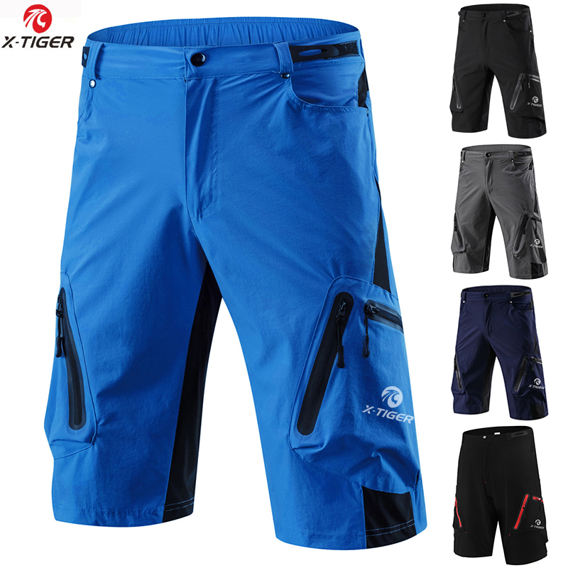 X-TIGER Pro Men's Mountain Bike Shorts Cycling Shorts Breathable Loose Fit For Outdoor Sports Running MTB Bicycle Short Trousers