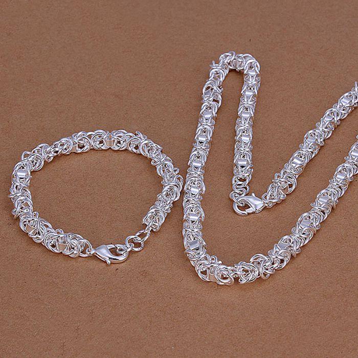 silver plated  jewelry set, fashion jewelry set Dragon Head And Shrimp Lock  ads  LKNSPCS029