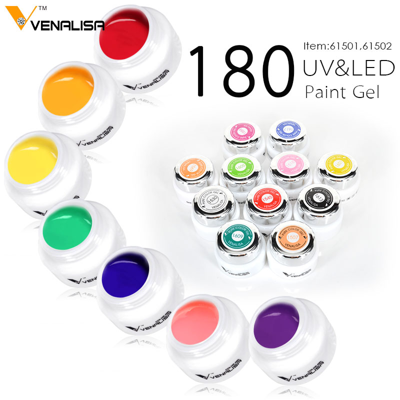 New Venalisa Nail Art 180 colors 5ML Nail Art Paint