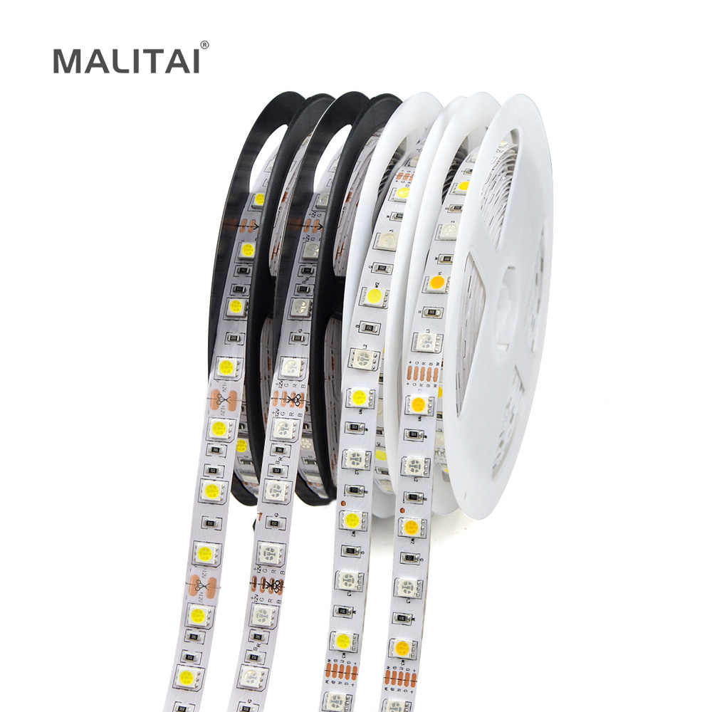 DIY LED Di Bawah Kabinet Light 5 M 12 V 5050 LED Strip RGB RGBW Rgbww Lampu Neon Tape Lampu Dapur dekorasi Natal