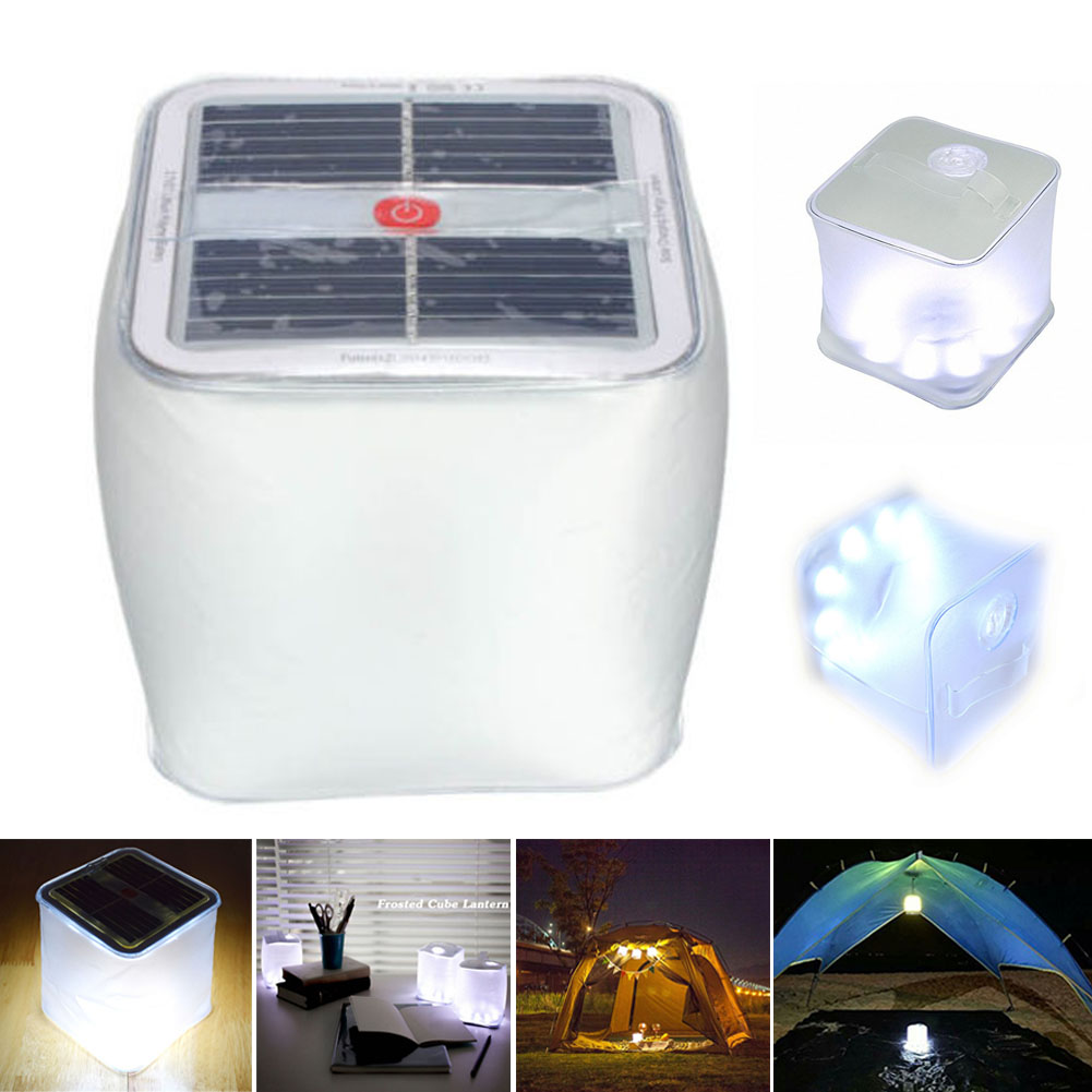 LED Inflatable Solar Light Camping Light Tent Lamp Solar Lantern Camp Lamps CLH@8