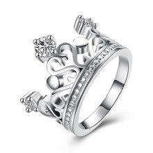 Mujer Anillo de Dedo de la Corona de plata Con Circón Joyería de La Manera Del Regalo Del Partido anel femenino TRUELOVE Marcas de Primera Calidad
