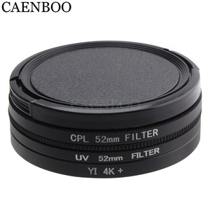 Image 2 - CAENBOO Lens Filters For XiaoMi Yi 4K+Plus Circular CPL UV C PL Sport Action Camera Protector For Xiaomi Yi 4K Lite Accessories