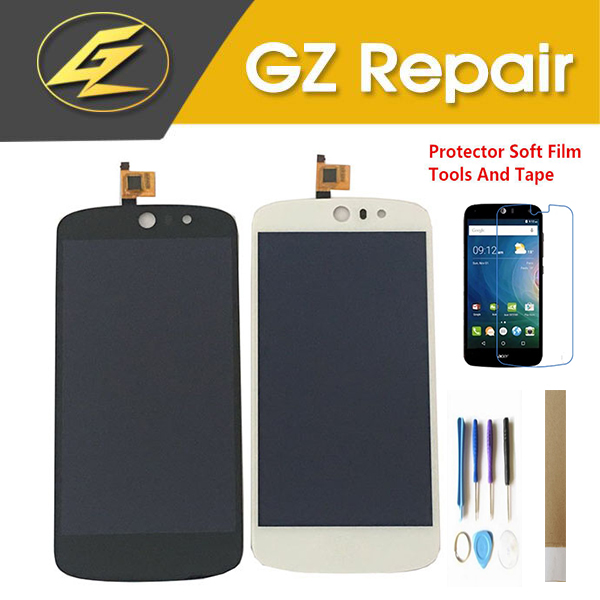 4.5 Inch For Acer Liquid Z530 LCD Display Screen+Touch Screen Digitizer Assembly Black White Color With Kits4.5 Inch For Acer Liquid Z530 LCD Display Screen+Touch Screen Digitizer Assembly Black White Color With Kits
