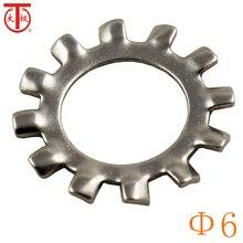 6) DIN6797.A блокировочные шайбы наружные зубцы(замок с зубчиками шайбы типа A, с наружные зубцы) 1000 шт./лот