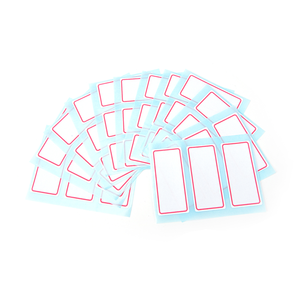 Купить с кэшбэком 12 Sheets Blank Stickers 34*73mm Self Adhesive Label Blank Note Label Bar Sticky White Writable Name Stickers