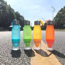 650 мл бутылка для воды пластиковая фруктовая настойка бутылочка для заваривания напитков для спорта на открытом воздухе сок лимон переносной чайник путешествия портативный подарок