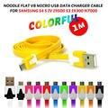 Preço mais barato!!! 10 pçs/lote 1 M noodle Plano V8 micro usb cabo do carregador de 3.3 PÉS micro usb micro universal para Samsung Nokia HTC