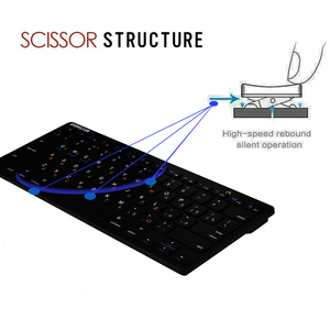 Image 3 - Zienstar Russia Language Ultra Slim Wireless Keyboard Bluetooth 3.0 for Ipad/Iphone/Macbook/PC Computer/Android Tablet