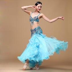 Одежда для танца живота, комплект одежды для восточных танцев (бюстгальтер, пояс, юбка), женский костюм для танца живота 3 шт