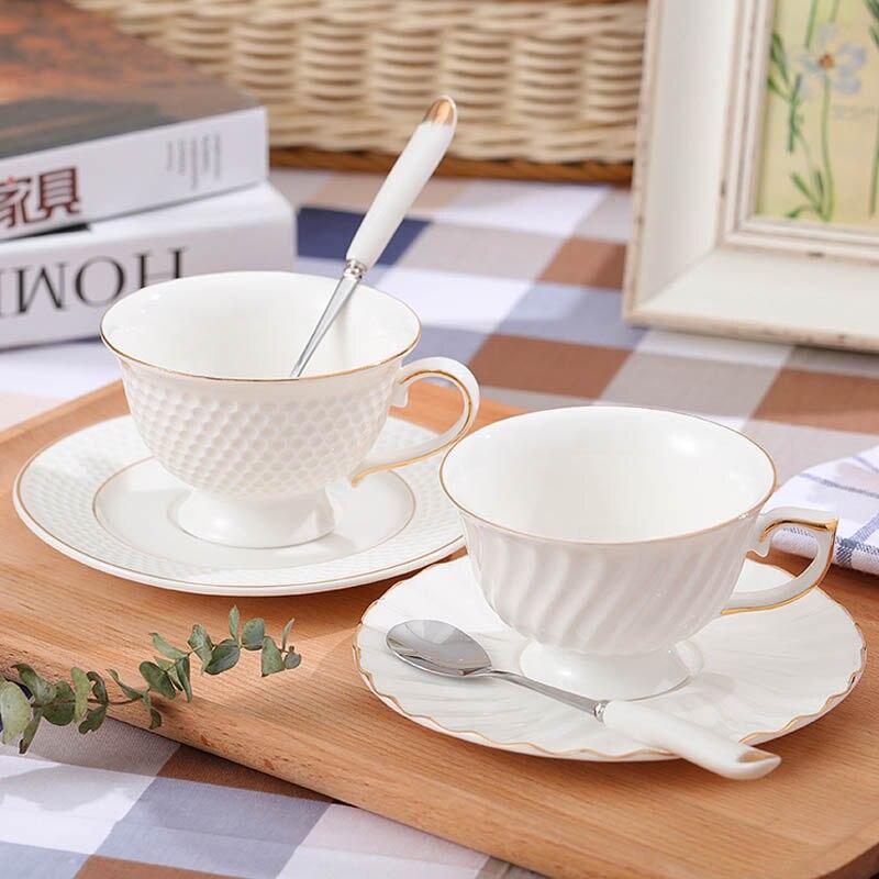 GLLead Kiinalainen valkoinen posliini-teekuppi Yksinkertainen muoti - Keittiö, ruokailu ja baari - Valokuva 4