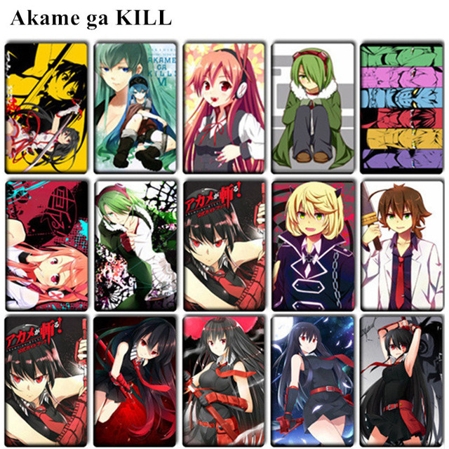 20 Pcs Lot Cute Akame Ga Kill Card Stickers Classic Toys Anime