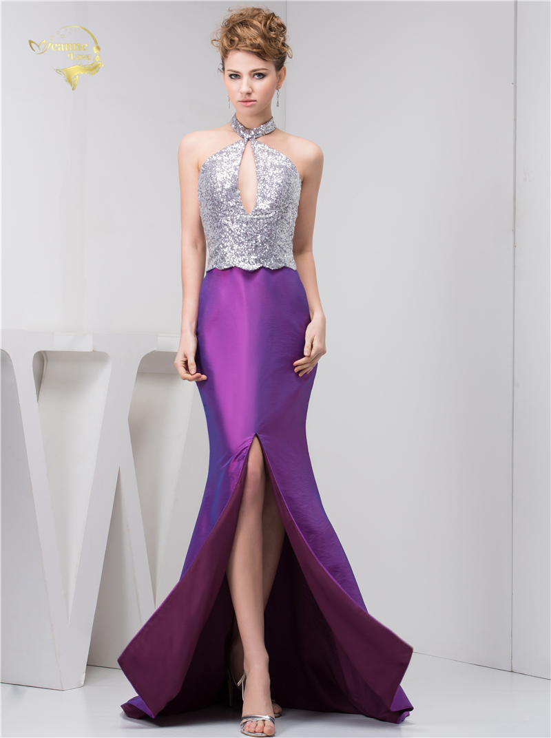 Fashion Sexy Vestido De Festa Halter Mermaid Evening Dresses 2018 ...