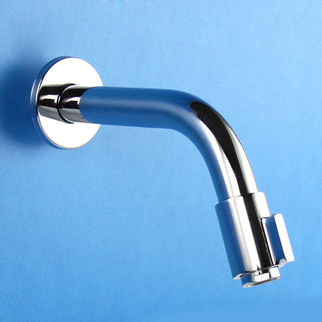 Copper Wall Type Quick Open Faucet Mop Pool Single Lengthened Tap-in ...
