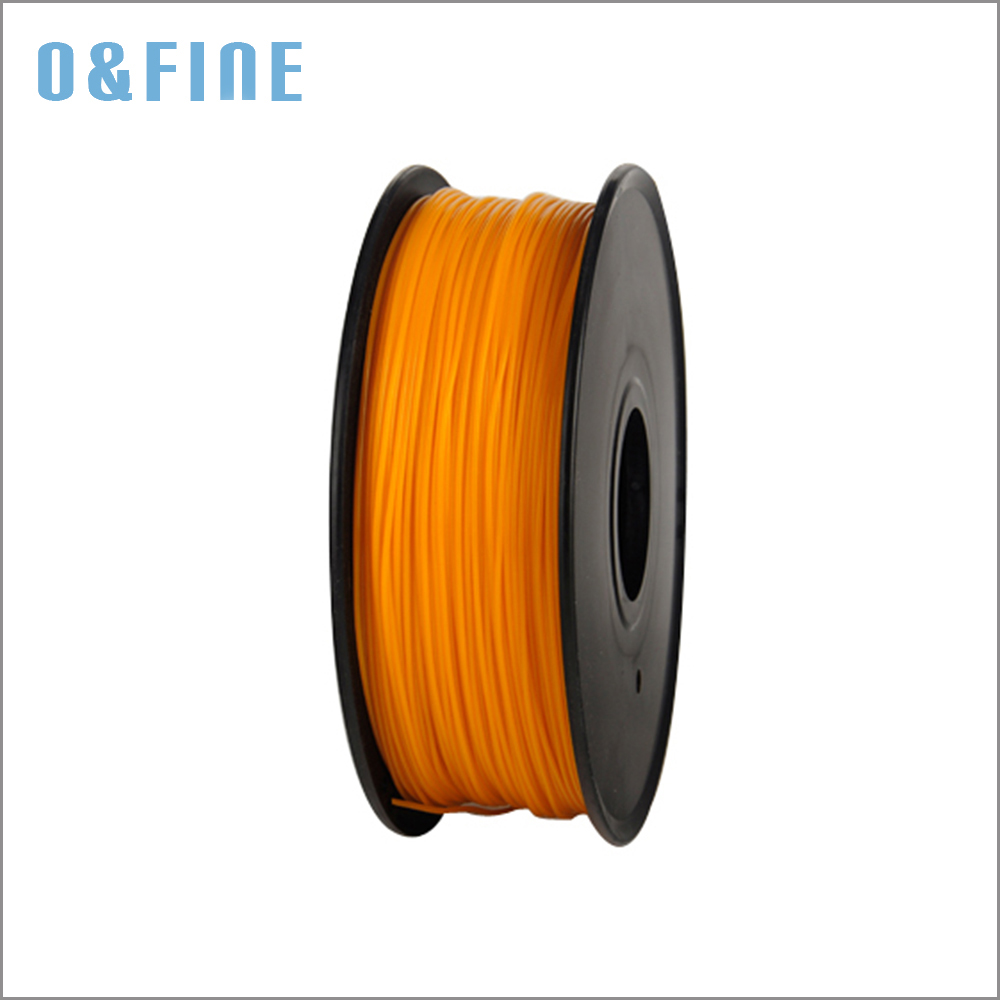Orange Color 3D Printer Filaments PLA 1.75mm1Kg/spool Plastic Rubber Ribbon Consumables Material Refills for MakerBot/RepRap/UP abs gold filaments 1 75mm 1kg spool wanhao 3d printer