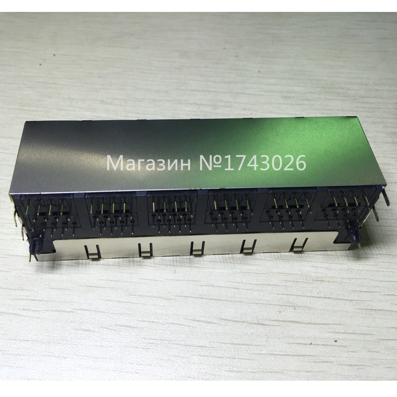 Electronic Components & Supplies Active Components High Quality Rj45 2x6 Network Interface 12 Bit Interface With The Lamp With A Double Layer Network Socket 2*6 Rj45 Ic 1 ...