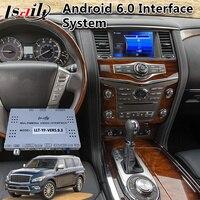 Android 6.0 Multimedia Video Interface for Infiniti QX80 / QX60 / QX56 / Q70 2014 2017 year , Car GPS Navigation