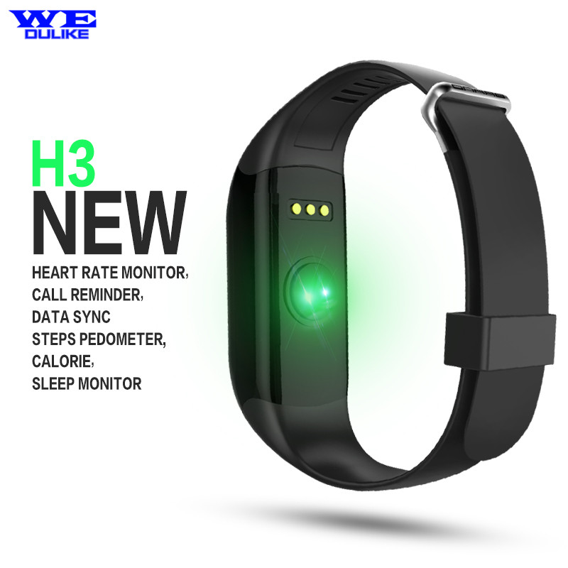 ФОТО Fashion Heart Rate Smartband H3 Waterproof Fitness Sleep Tracker Passometer IOS Android Smart Watch & Miband Sport Bracelet