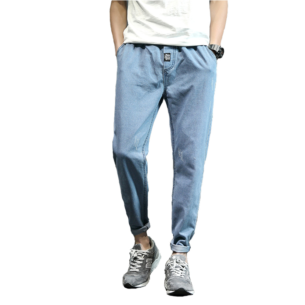 2018 Man's Spring Summer Neweat Fashion Harem pants Leisure Timepopular Casual Nine Part Trousers Self-cultivation Youth   jeans