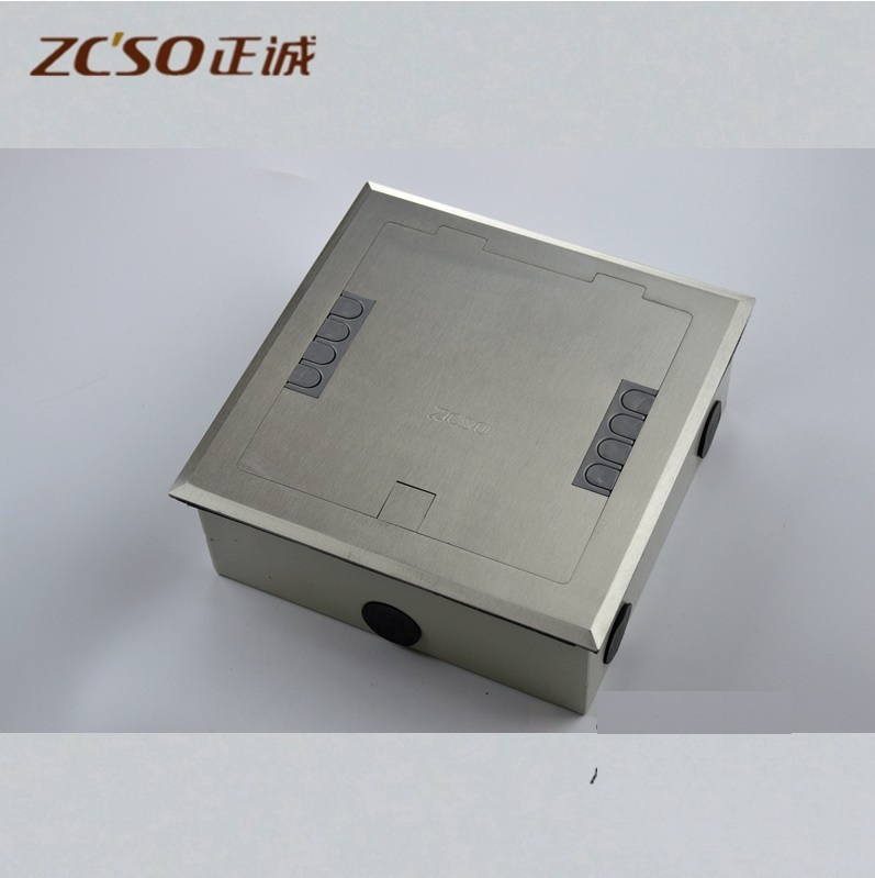Floor Box with Solid Flat Solid Surface / Panel Size:18x18cm / Box Size:16.8x16.8cm, 65mm High