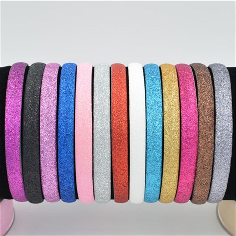 15mm Hairbands Shining Scrub Fashional Modern Style Boutique Headband for Girls floral   Headwear   Hair Accessories for Women lady
