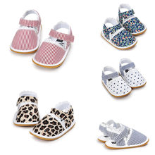 New Summer Newborn Baby Boy Girl Sandals Soft Sole Crib Shoes Sneaker Prewalker Floral Baby Shoes