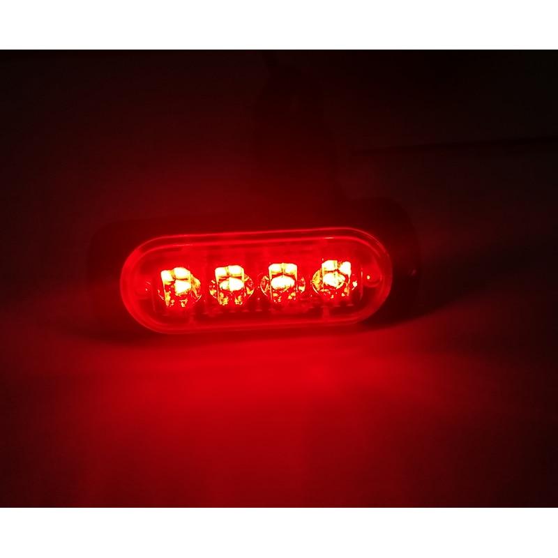 Автомобиль Использовать 12 В-24 В 4 светодиодный автомобилей Strobe Light полиции Строб вспышка световой Даш аварийного автомобиля мигающий светло…