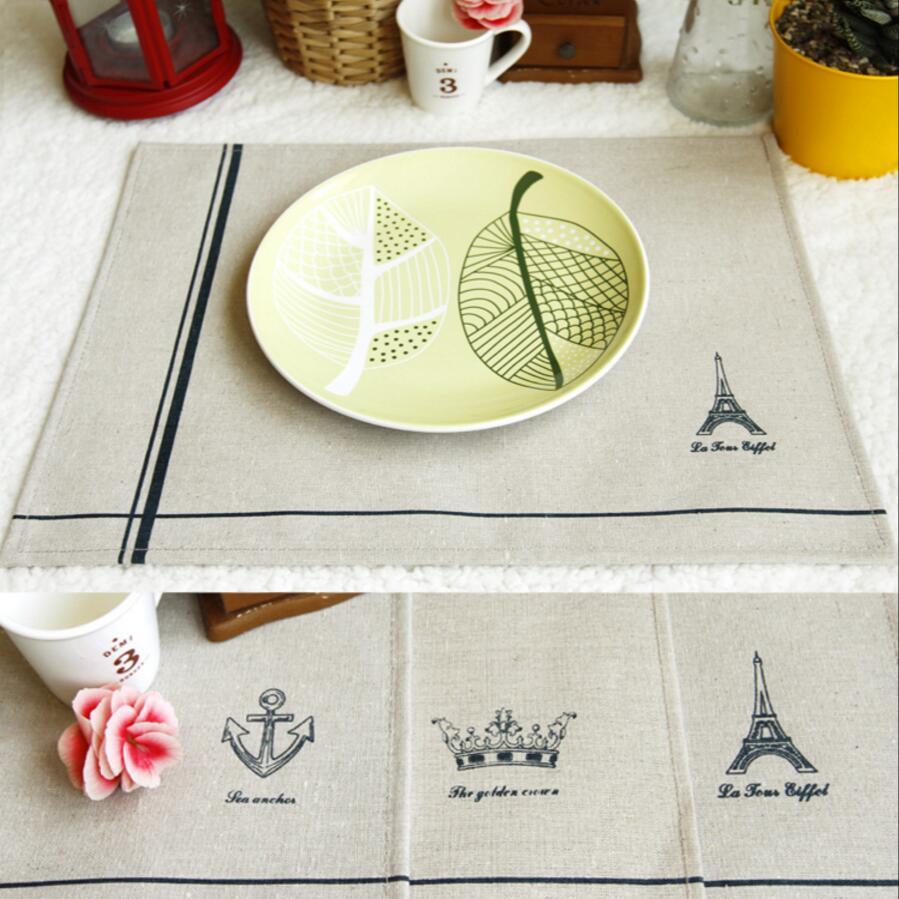 Table Decoration & Accessories Kitchen,dining & Bar 2019 New Arrive English Alphabet Arabic Numerals Table Mats Cotton Fabric Table Napkin Decorative Placemats Kitchenware Hot Sale Durable In Use