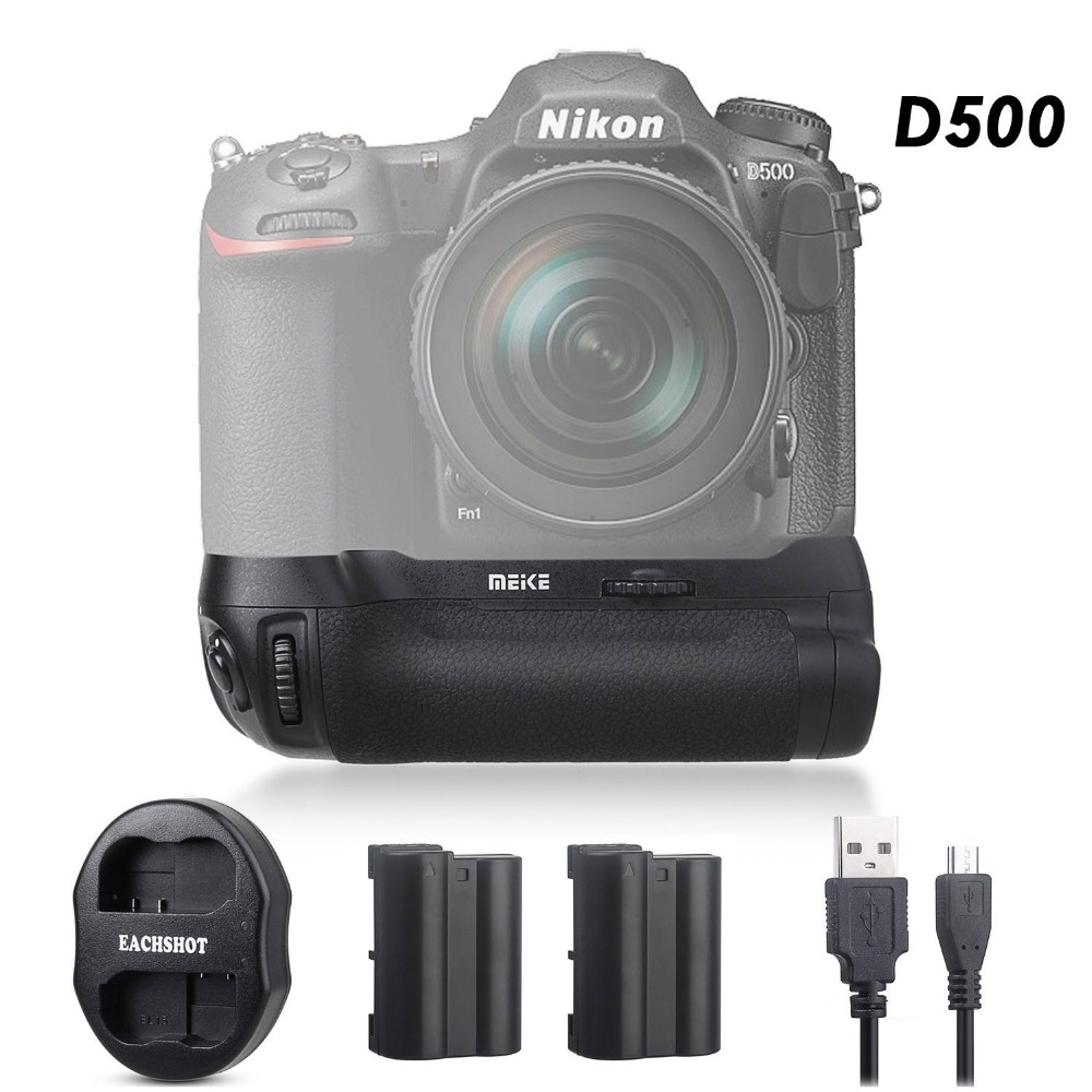 Meike MK-D500 Vertical Battery Grip Shooting for Nikon D500 Camera Replacement of MB-D17 With Battery And USB Dual Charger meike mk d500 professional battery grip for nikon d500 works with en el15 battery and aa battery replacement for nikon mb d17