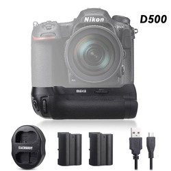 Meike MK-D500 Vertical Battery Grip Shooting for Nikon D500 Camera Replacement of MB-D17 With Battery And USB Dual Charger