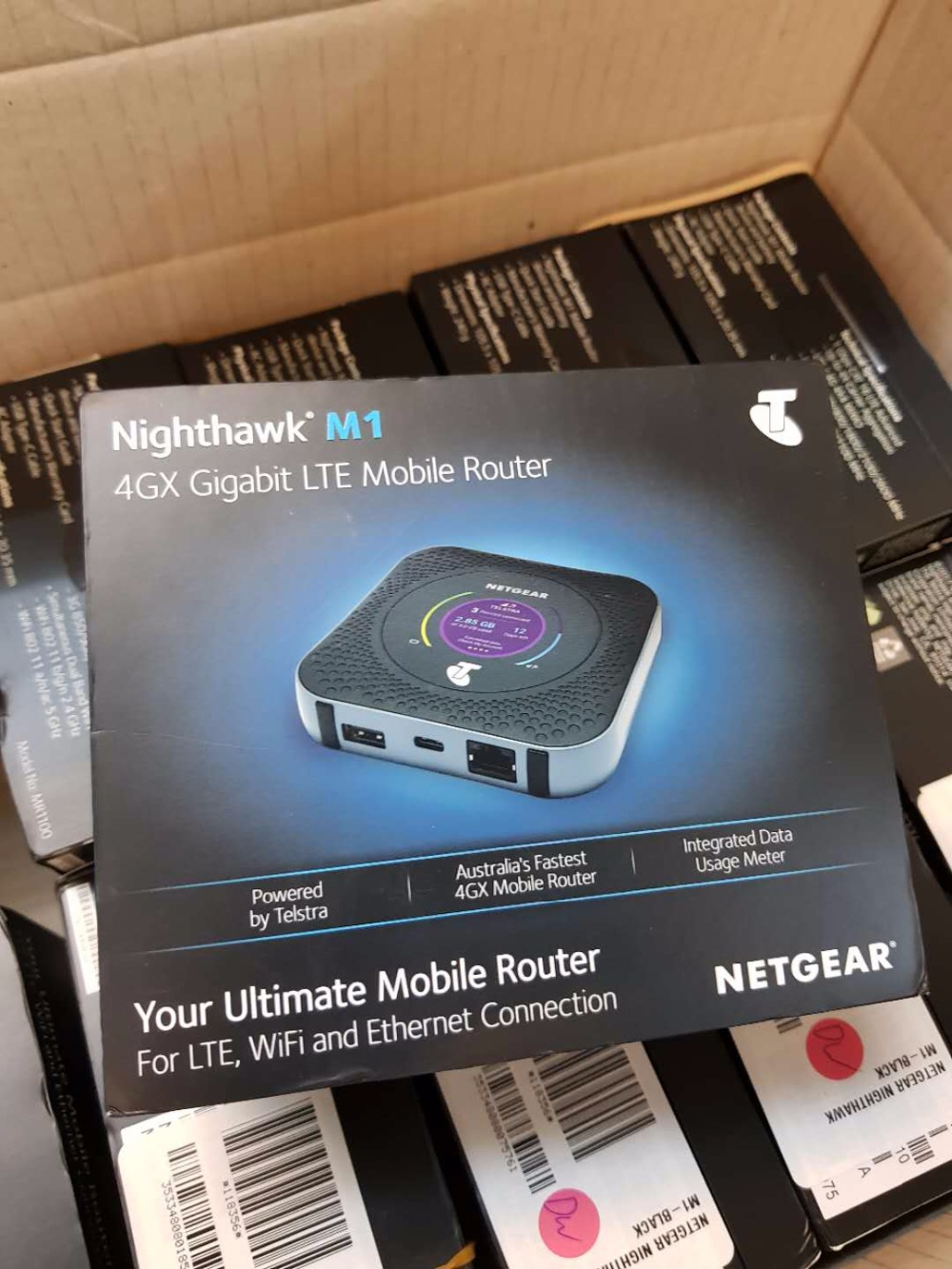 US $2500 0  Lot of 10pcs Netgear Nighthawk M1 MR1100 4GX Gigabit LTE Mobile  WiFi Router (Unlocked)-in Network Cards from Computer & Office on