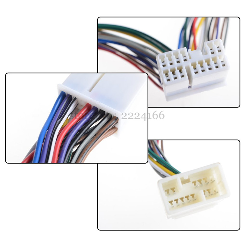 2019 New Y Wire Harness Aux Splitter Cable CD Changer Adapter For