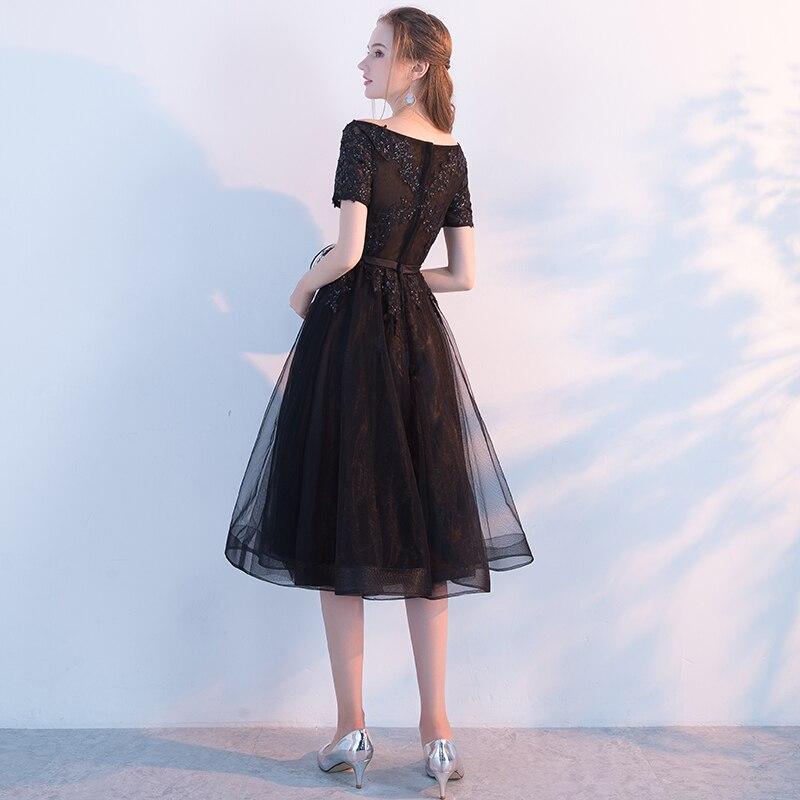 SSYFashion New The Banquet Elegant Little Black Dress Bride Lace ... 6c670ca5e2a5