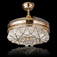 LED מאוורר תקרת גביש סגסוגת מודרני אקריליק מנורת LED. LED Light. אורות תקרה. תקרת אור LED. מנורת תקרת חדר שינה מבואה|ceiling fan led|ceiling fanacrylic ceiling fan -