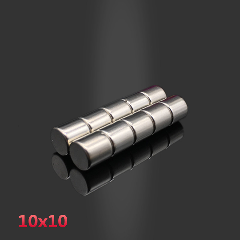 10pcs 10x10mm neodymium magnet 10mm*10mm strong rare earth neodymium magnets 10*10 mm NdFeB permanent round magnetic 10mm x 10mm high quality100 pcs set 10mm 1 5mm thin neodymium magnets rare earth n50 neodymium permanent super strong magnetic disc
