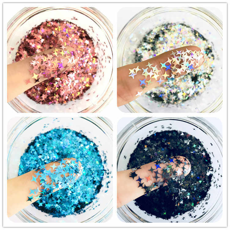 10g/20g Star Glitter Diy Crystal Slime Supplies Ultra-thin Slices Nails Art Tips Box Accessories Decoration Toys For Kids