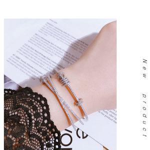 Image 5 - Mocai Fashion Design Cross Activity Small Circle Open Bangles For Women Bracelet Jewelry ZK40