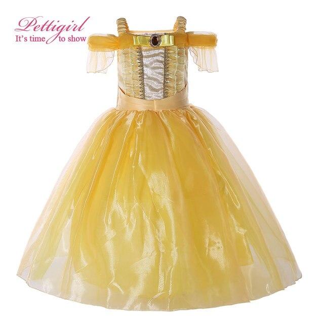 Pettigirl Żółty Little Girl Dresses Bella Długi ...