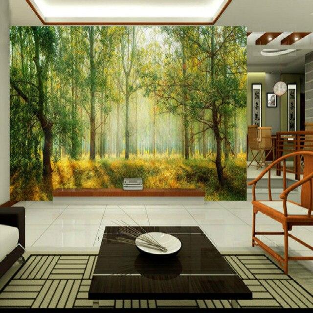 Fantasy foresta grande luce soggiorno camera da letto pittura murale ...
