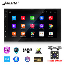 "Jansite 7"" Universal Double DIN Car Radio Android 8.1 player Touch screen Bluetooth mirror Autoradio + 8LED light Rear camera(China)"