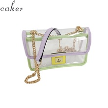 Caker Brand 2019 Women Transparent PVC Chain Bags Summer Beach Bags Wholesale