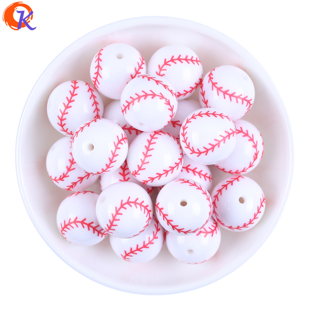 Cordial Design 20MM 100Pcs/Lot Printing Carved White Acrylic Baseball Beads For Decoration Jewelry CDBD-601178Cordial Design 20MM 100Pcs/Lot Printing Carved White Acrylic Baseball Beads For Decoration Jewelry CDBD-601178
