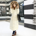 Korean 2016 Winter New Fashion Women Coat Elegant Pure color Super Warm Hooded Leisure Big yards Long Down Cotton Coat G0194