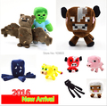 16-26cm My World Minecraft Steve Zombie Ghost Doll Wolf Sketelon Enderman Stuffed Animals JJ Strange Sheep 15 style Plush Toys