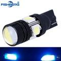 T10 LED W5W Light Bulbs 5050 SMD  Lens 4 LED 12V Parking 194 168 Xenon White Crystal Blue Side License Lamp Car Styling FISHBERG